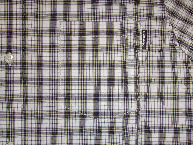 MDY CLASSIC CHECK SHIRTS WHITE PT