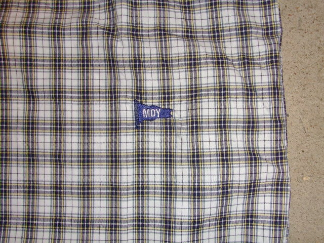 MDY CLASSIC CHECK SHIRTS WHITE MDY