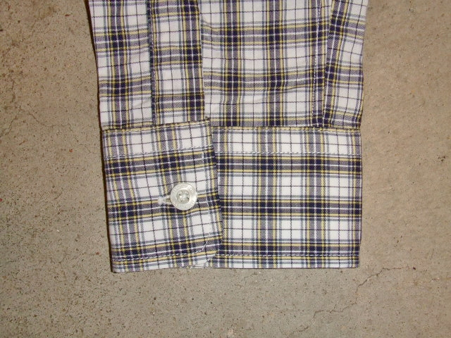 MDY CLASSIC CHECK SHIRTS WHITE SV