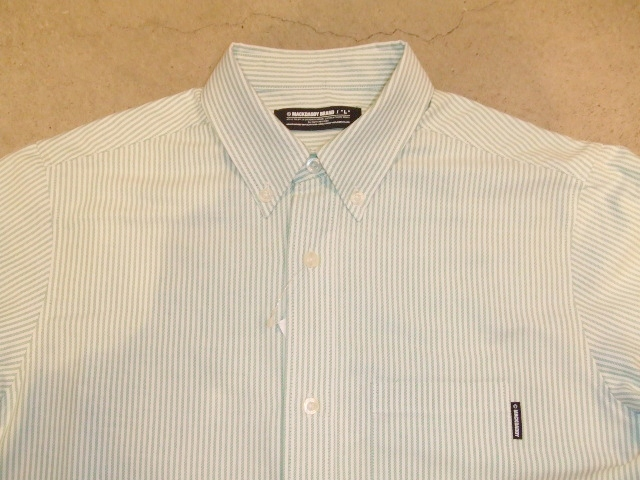 MDY STRIPE OXFORD SHIRTS GREEN FT1