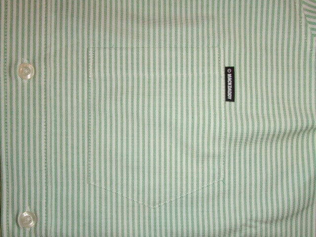 MDY STRIPE OXFORD SHIRTS GREEN PT