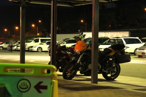 もうバイクは僕らだけ・・・