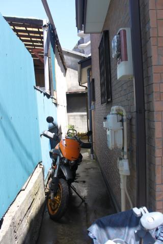 バイク駐輪場ができた。