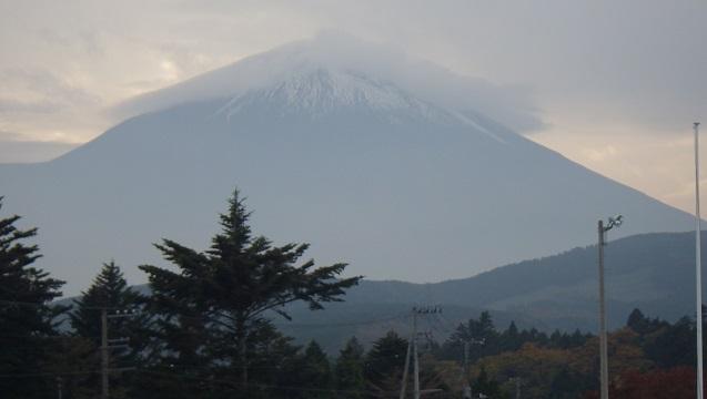 帰り際の富士山