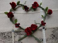 ミニ薔薇のリース