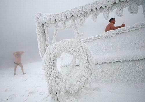 ロシア寒中水泳1