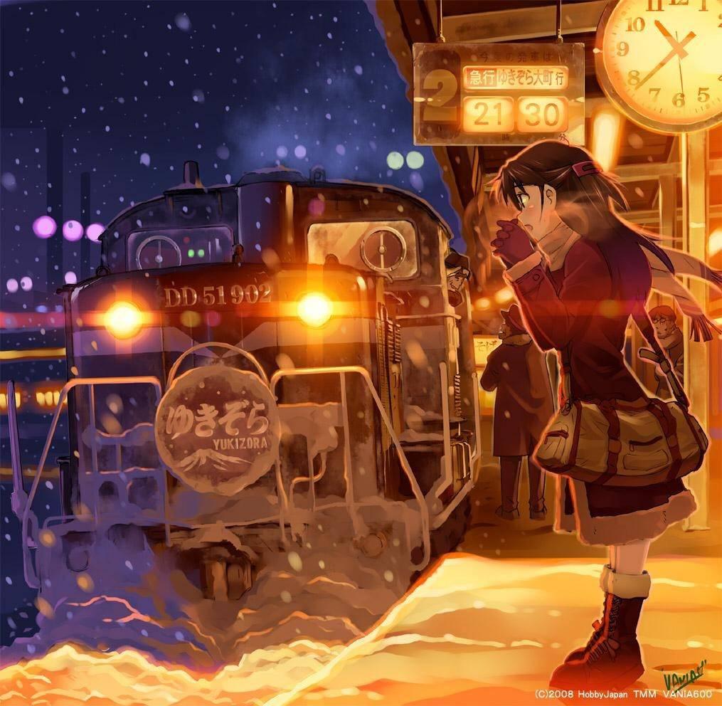 大雪のホーム