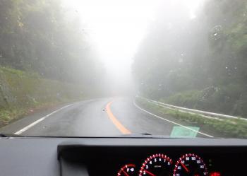 濃霧です!?