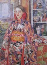 Kimonoed Belgian Girl