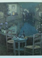 Small Table in Evening Dusk