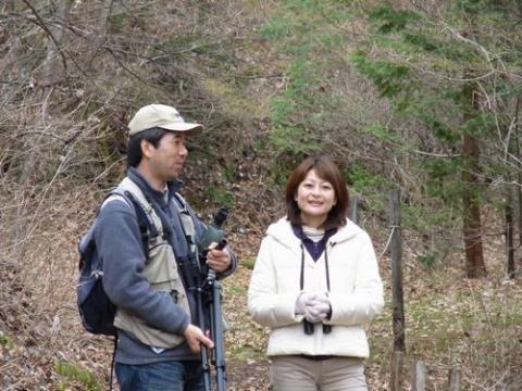菰田アナウンサーとピッキオの大塚