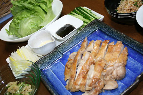 鶏肉のレタス巻き2