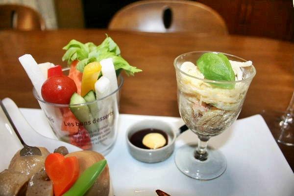 スティック野菜とスパサラ