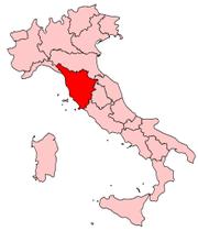 地図Regions Tuscany Map