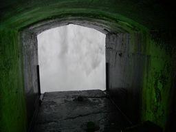 カナダ滝の裏側@ナイアガラ(カナダ)
