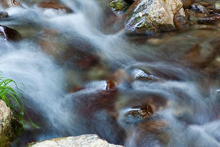 涼しい水の流れ画像