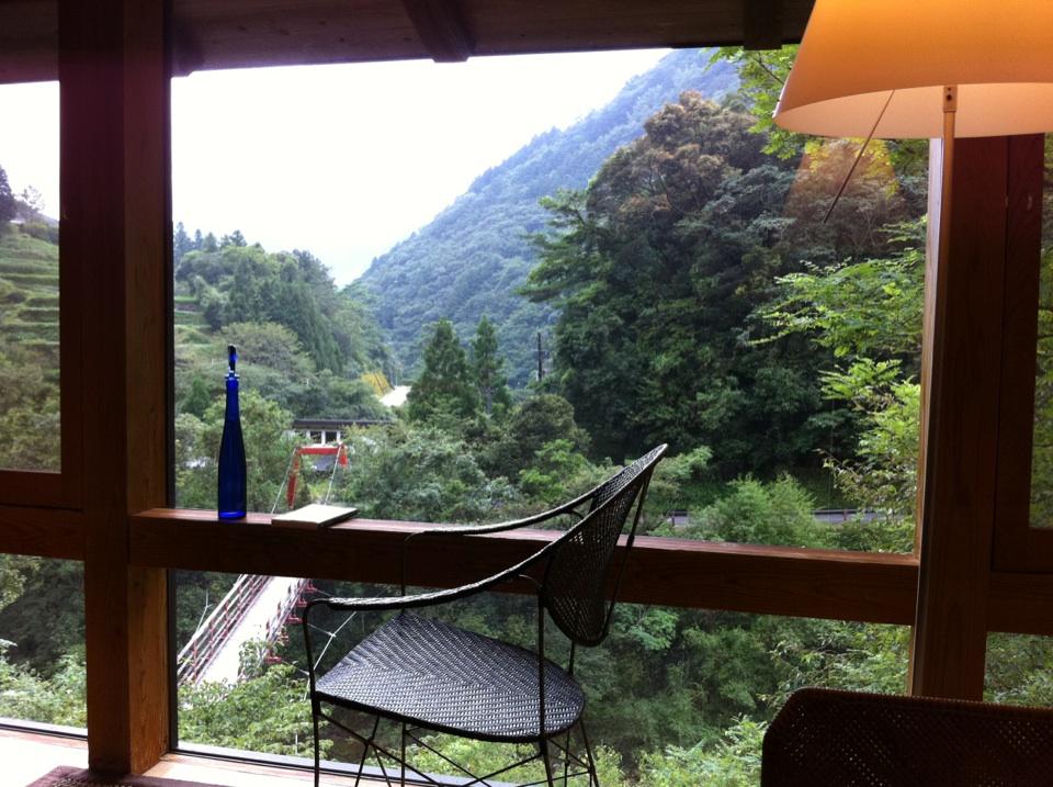 オーベルジュ土佐山部屋からの景色
