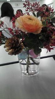 二年生テーブル花