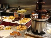 デザートの種類も豊富!チョコレートフォンデュもあります