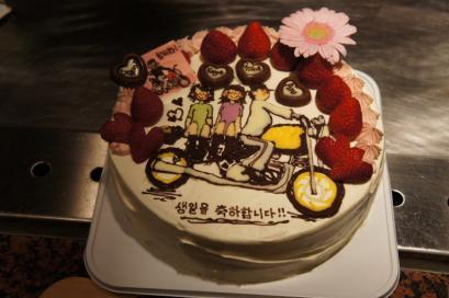 12月お誕生日組。素敵なケーキ。