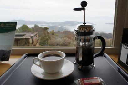 瀬戸内海を眺めながらおいしいコーヒー