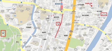 藤崎八幡宮マップ
