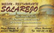 Tarjeta de Bar en Toledo