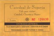 Catedral de Segovia billete