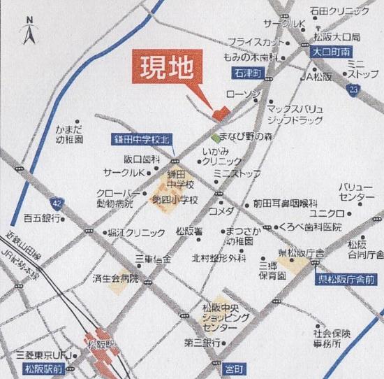 ミサワ オナーズコート石津 裏 地図