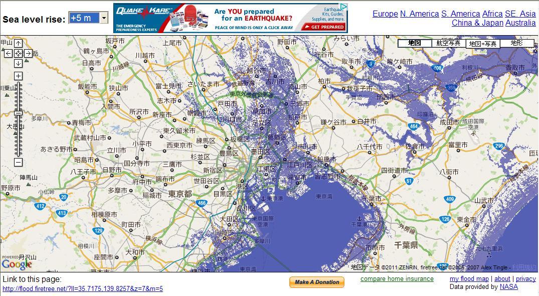 Flood map 5m