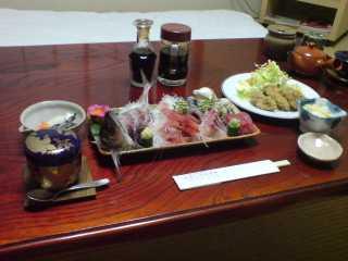 矢指ヶ浦温泉館・夕食
