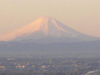 元日の富士山。