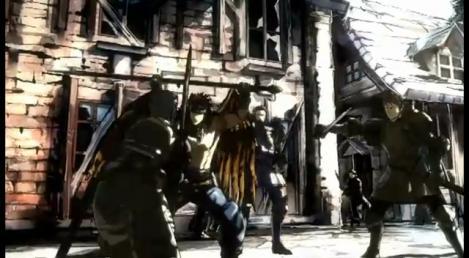 ゴリアテ、ヴァイスがカノープスに斬りかかる