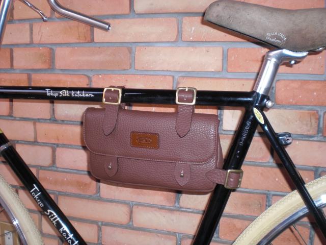 自転車の 自転車 バッグ フレーム : フレームバッグを片倉シルク ...