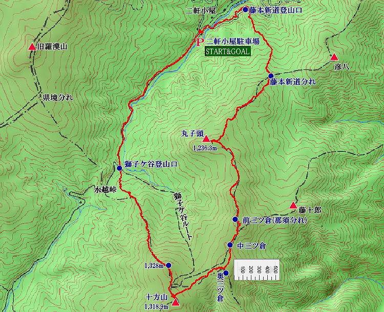 十方山地図