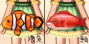 お魚ヒップバッグ(クマノミ・鯛)
