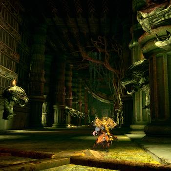 ダゴンの神殿通路