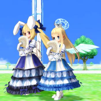 お姫さまのドレス♀(青)、ティタのお姫さまハート