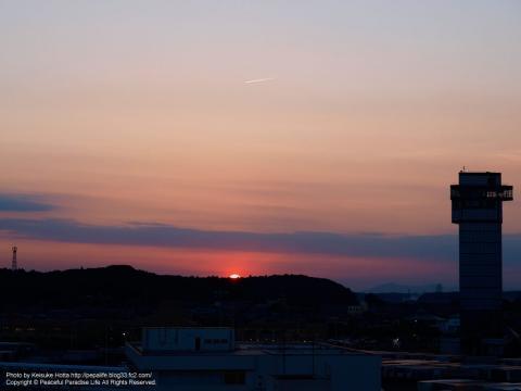 大洗港の夕日