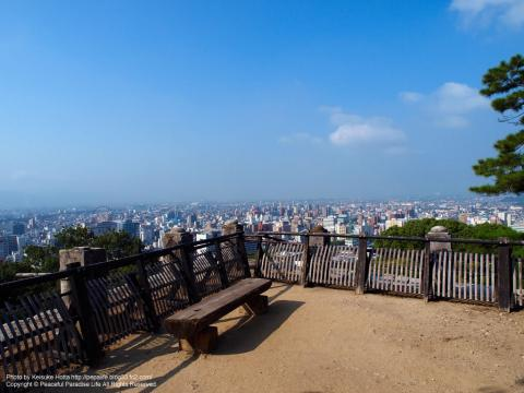 松山城の途中からの眺望