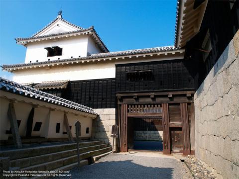松山城天守へ向かう途中