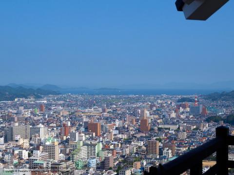 松山城天守からの眺望