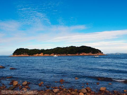 島の周りの小島