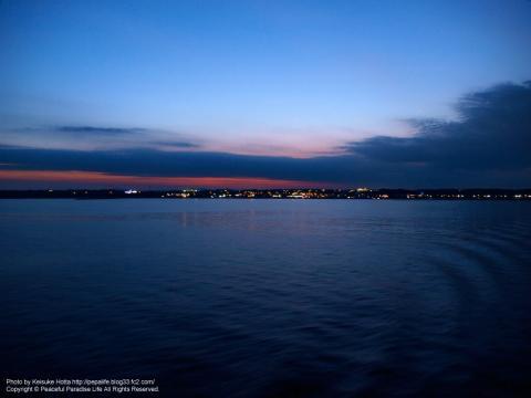 大洗港の夜景