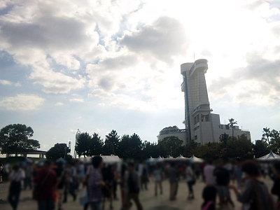 名古屋港ガーデン埠頭つどいの広場。