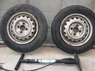 s-2本のタイヤの修理完了