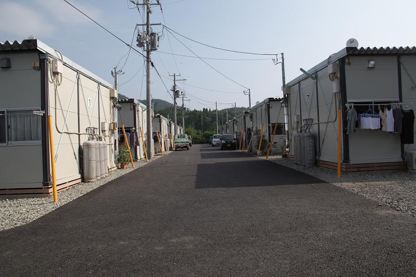 相川の仮設住宅