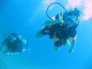 オープンウォーターダイバー 水中 ファンダイブ