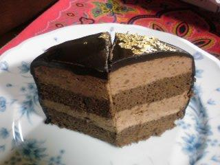 チョコレートムースケーキ断面
