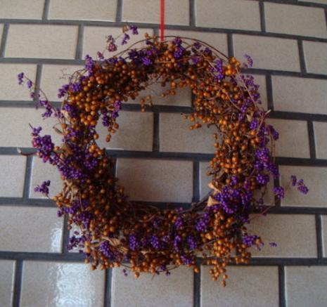 ヘクソカズラと紫式部のリース